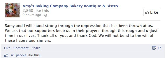 amys baking company facebook message