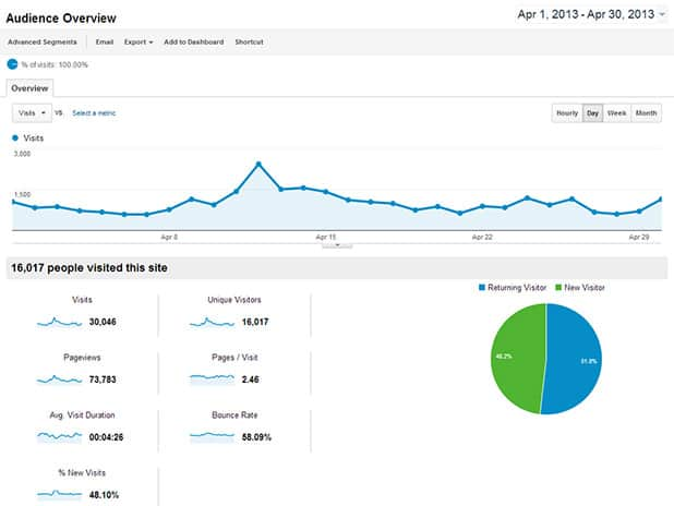 Visitor Statistics Analytics