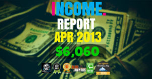 Monthly Income, Growth & Traffic Report – April 2013