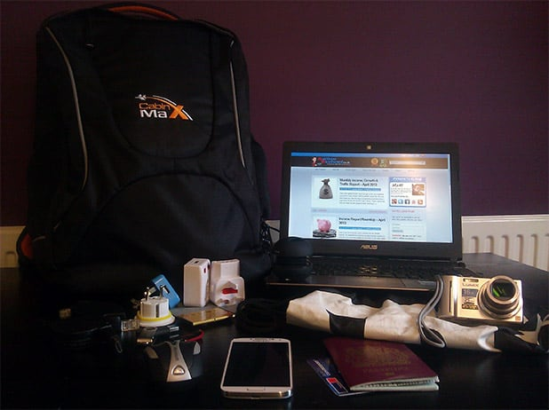 my setup to work and travel the world