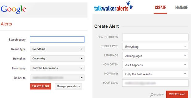 talk walker alerts vs google alerts