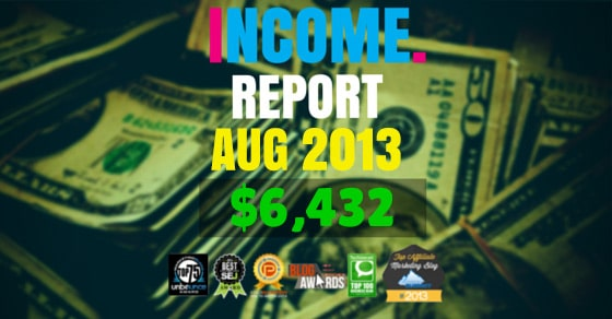 Monthly Income, Growth & Traffic Report – August 2013