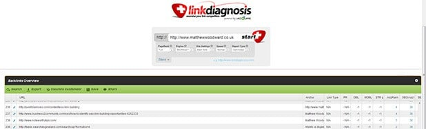 link diagnosis link checker