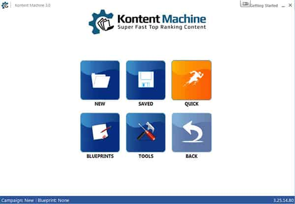 Kontent Machine 3 user interface