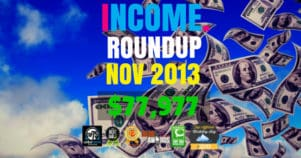Income Report Roundup – November 2013