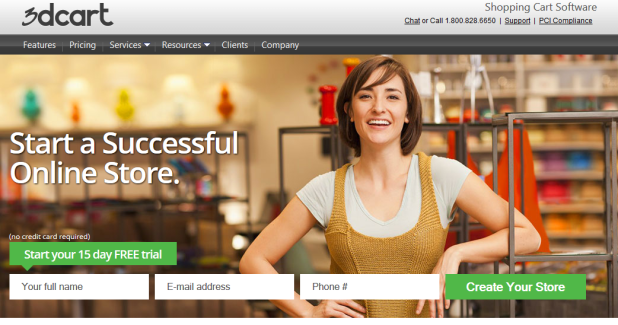 Landing page design example 2