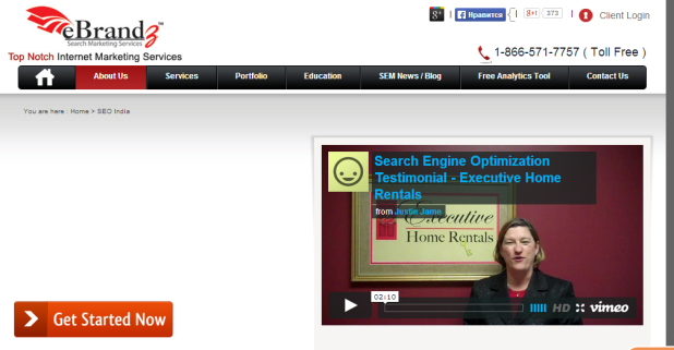 Landing page design example 4