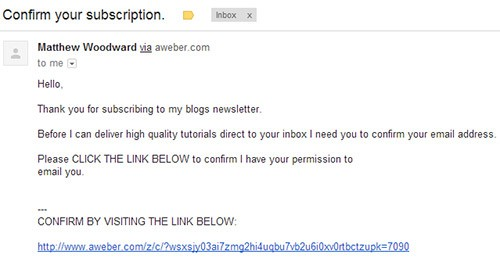 email confirmation email template