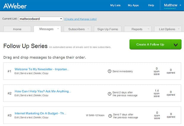 full email autoresponder sequence
