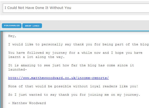 gratitude email template