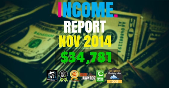 Monthly Income, Growth & Traffic Report – November 2014