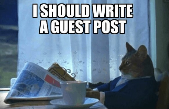 I should write a guest post