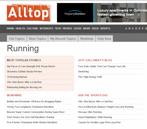 alltop running blogs