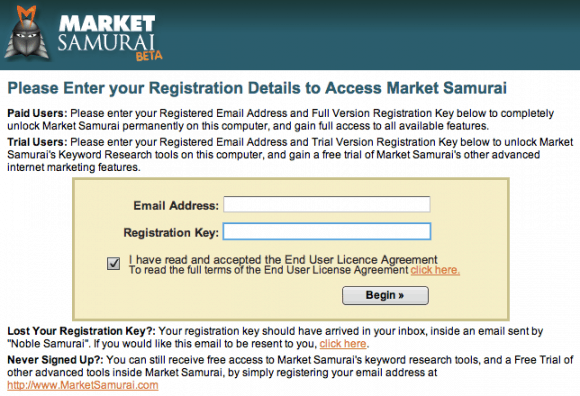 market samurai keyword research tool free registration