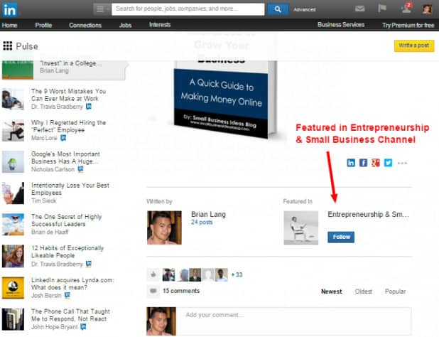 LinkedIn Channel Featured