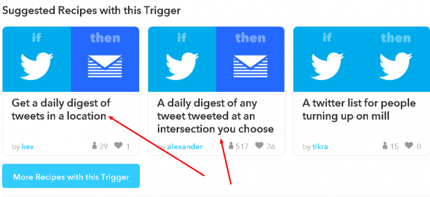 New tweet by anyone in area Trigger on the Twitter Channel   IFTTT