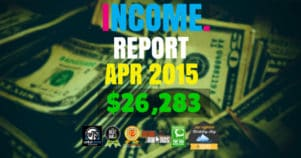 Monthly Income, Growth & Traffic Report – April 2015