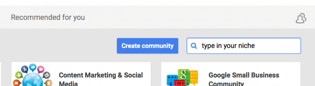 Google Plus Recommend Communitys