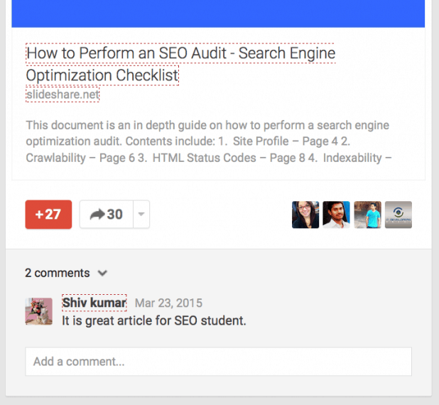Google Plus SEO Auditr