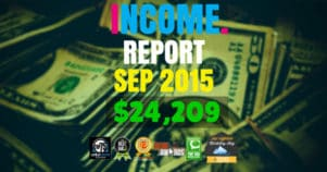 Monthly Income, Growth & Traffic Report – September 2015