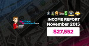 Monthly Income, Growth & Traffic Report – November 2015