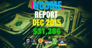 Monthly Income, Growth & Traffic Report – December 2015
