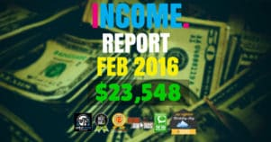 Monthly Income, Growth & Traffic Report – February 2016