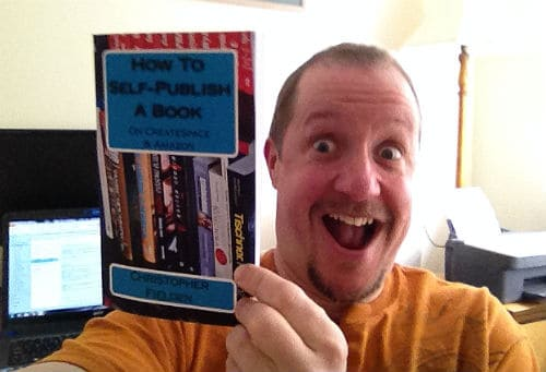 Chris Fielden with the how to self publish a book book