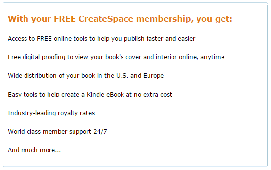 CreateSpace Membership Information