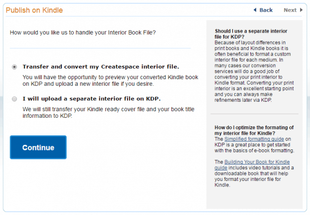 Amazon KDP Interior Book File