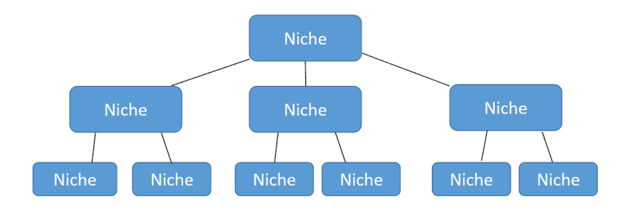 niche writing flow chart