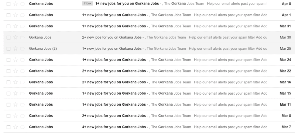 email inbox screenshot