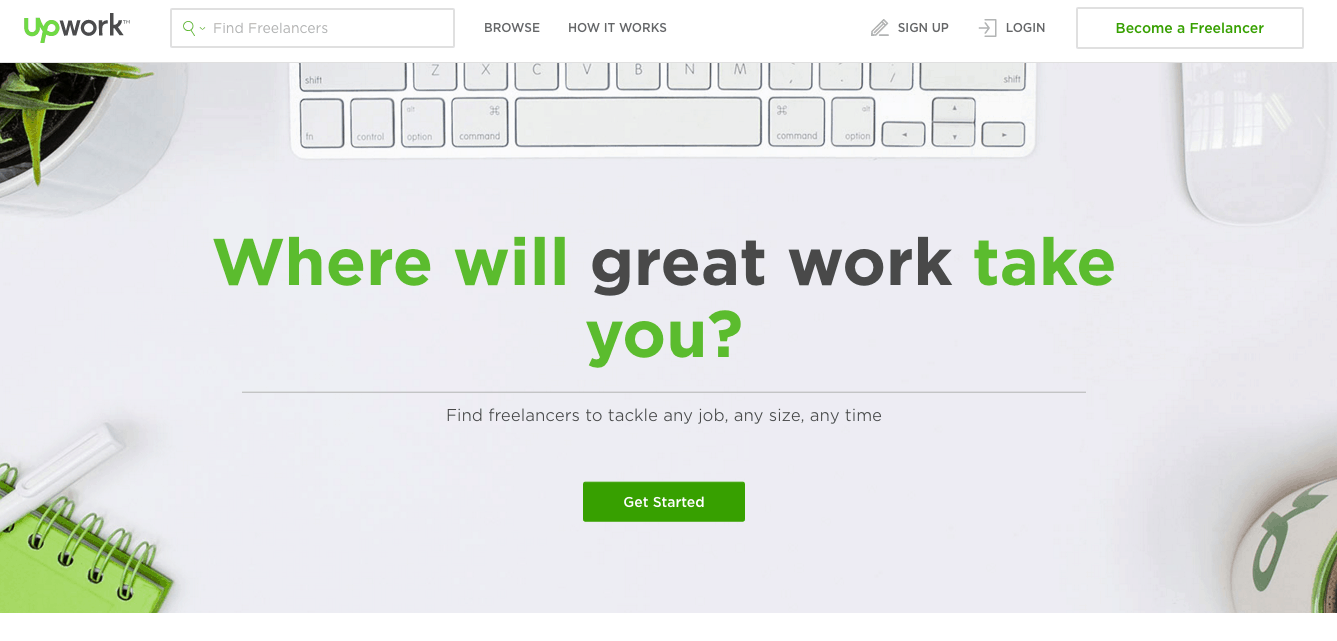 upwork sign up page example