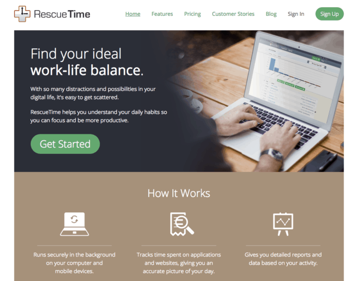 rescuetime home