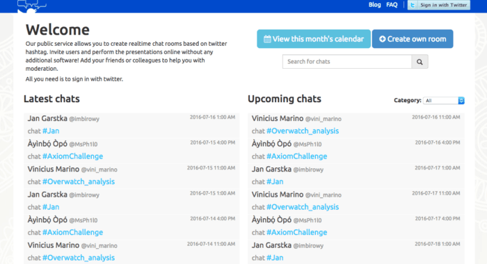 twchat page