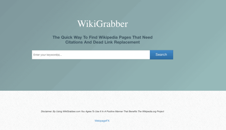 wikigrabber search tool