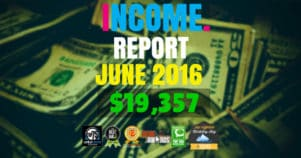 Monthly Income, Growth & Traffic Report – June 2016