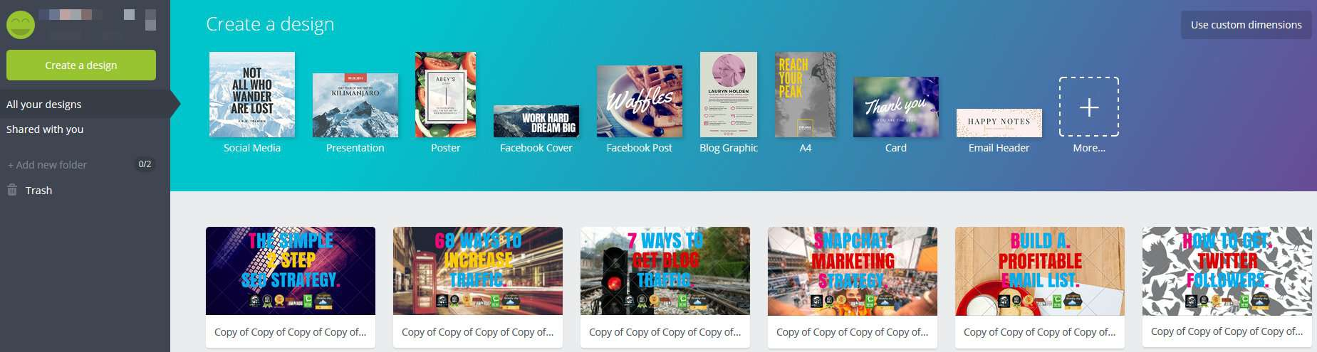 Canva account