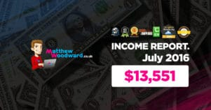 Monthly Income, Growth & Traffic Report – July 2016
