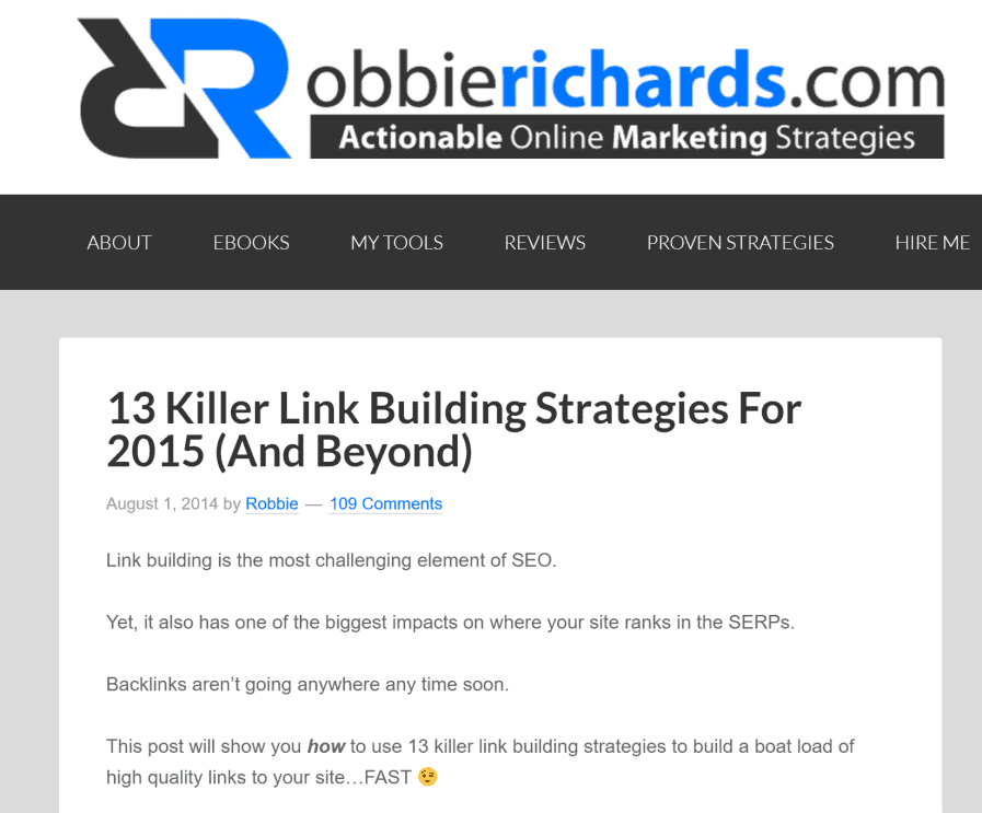 robbie richards link building