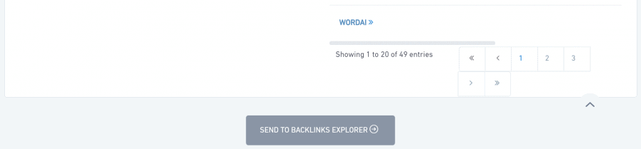 send to backlinks explorer