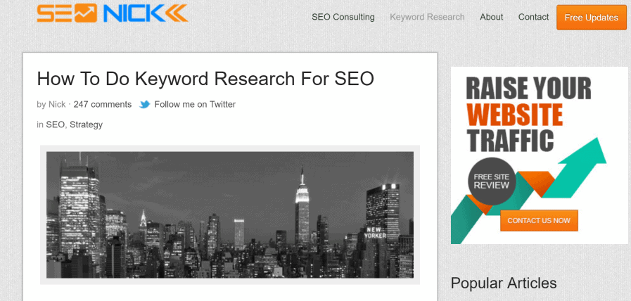 seo nick keyword research
