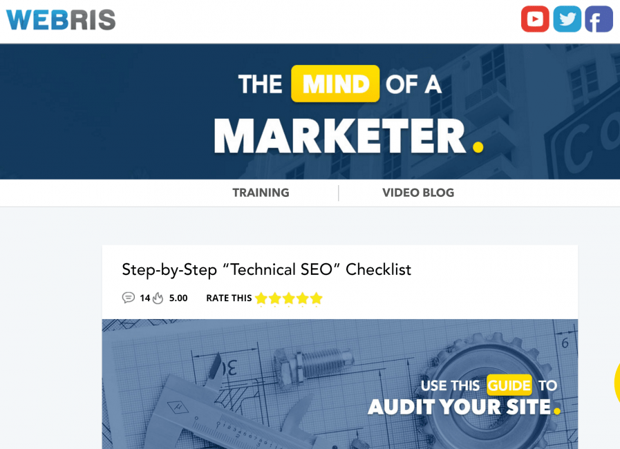 webris technical seo audit