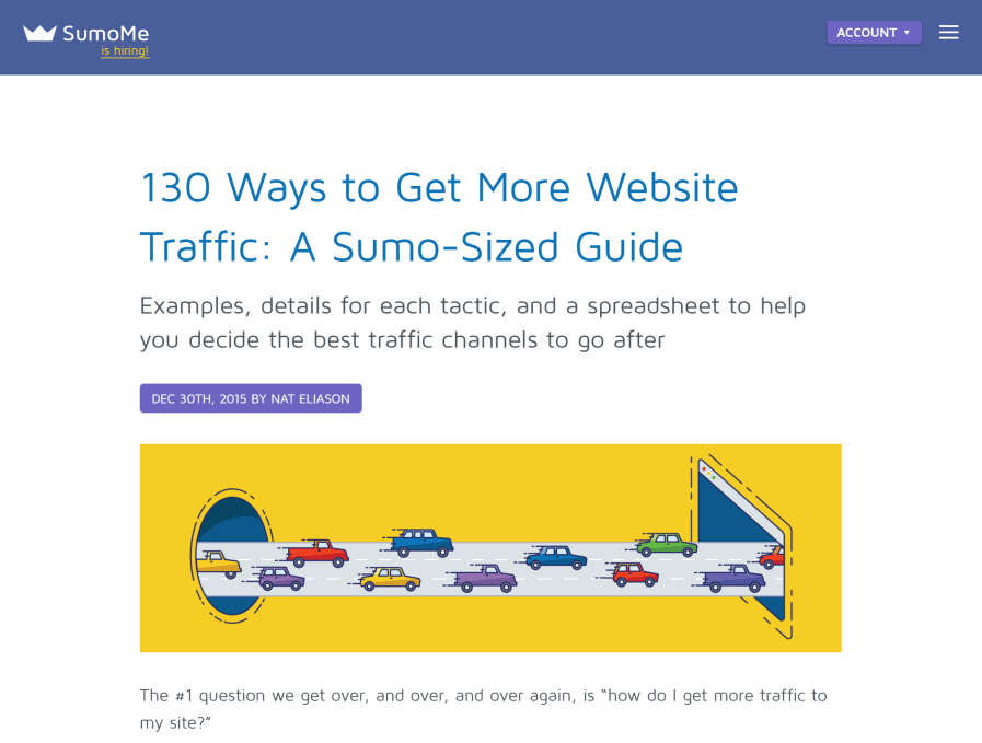 sumome website traffic generation