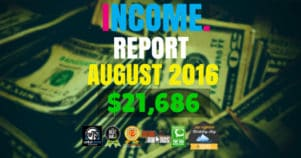 Monthly Income, Growth & Traffic Report – August 2016