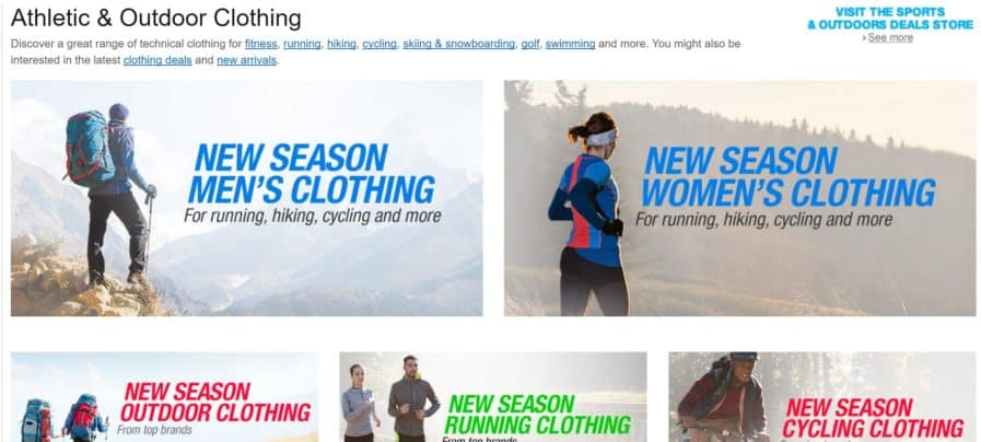 athletic and outdoor clothing