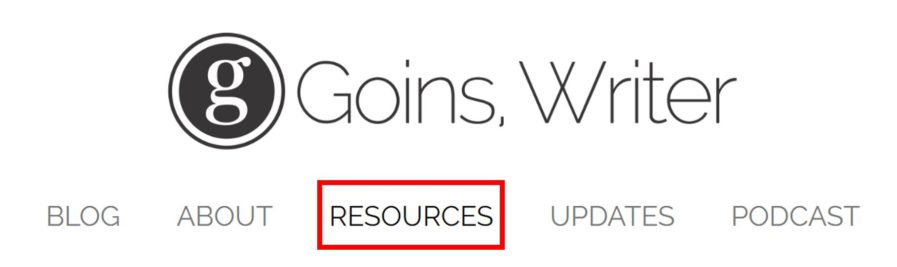 goinswriter resource page