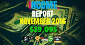 Monthly Income, Growth & Traffic Report – November 2016