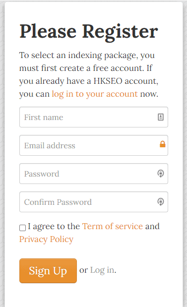 OneHourIndexing How To Register