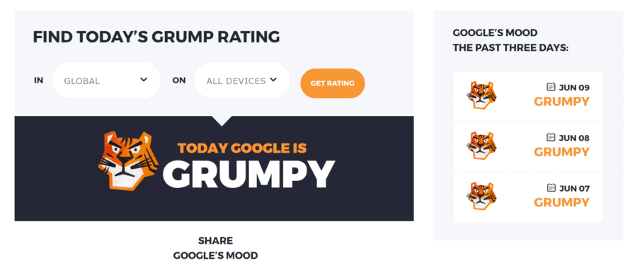 grump rating